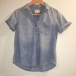 Current Elliot Chambray The PopOver Shirt Medium